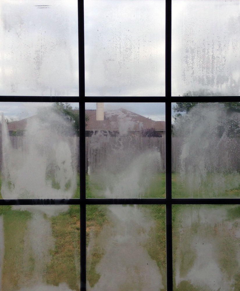 Misted domestic window